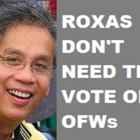 """I DON'T NEED VOTES OF OFWs"" STATEMENT TO TAKE HEAVY TOLL ON ROXAS PRESIDENTIAL BID"