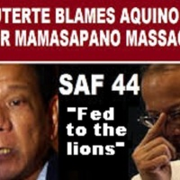 DUTERTE SEES JUSTICE FOR SAF 44 IN MAMASAPANO RAP VS AQUUINO