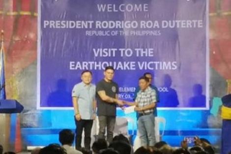 earthquake victims padada